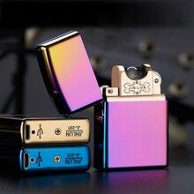 Импульсно-дуговой беспламенного дуги электрической сигарета прикуривателя зажигалка электронная аккумуляторная ветрозащитный тонкий
