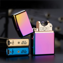 Electronic Cigarette Lighter Pulsed Slim Windproof Cigar USB Rechargeable Flameless