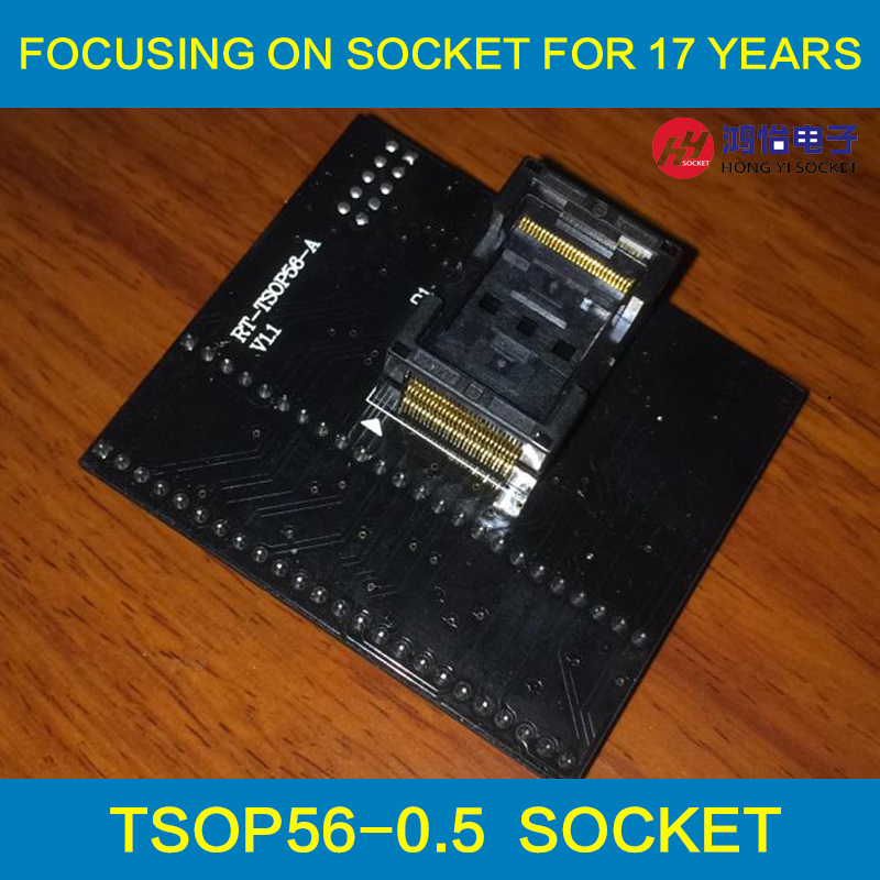 TSOP56 Opentop Programming Socket 0.5 IC Test Socket Flash Burn in Socket Adapter High Quality Eletronic for RT809H programmer import block adapter ic51 0562 1387 adapter tsop56 test burn
