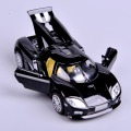 Black Mini 1:32 Scale Koenigsegg Car Electronic Pull Back Ca rToys Alloy Diecast Car Model With Light &Sound Kids Toys Gift