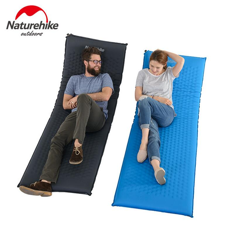 Naturehike beach mat inflatable mattress camping mat ultralight tent folding bed air mattress sleeping pad Yoga mat NH17Q001-D high quality barbecue camping equipment matelas gonflable tourist tent mat sleeping blanket beach mat yoga pad