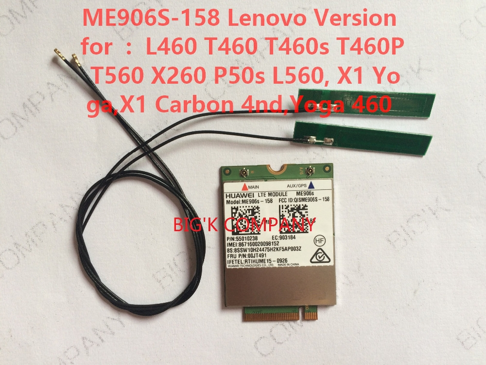 JINYUSHI For Unlocked ME906S ME906S 158 FRU 00JT491 2pcs 4G antenna NEW Original M 2 Qual