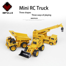 Impulls Remote Control Car Mini RC Truck Rc Hydraulic Excavator Crawler Educational Toys Toddler Toys for Boys for Children FSWB huina 1550 1 14 rc crawler car 15 ch 2 4ghz rc metal excavator charging rc car rc alloy excavator rtr gift for children adult