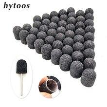 50 adet 13*19mm siyah tekstil zımpara kapakları kavrama pedikür bakım parlatma zımpara blok tırnak matkap aksesuarları ayak manikür aracı