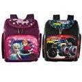 2016 new FZ CARS School Bags Children Backpack Winx Monster High Primary Bookbag Orthopedic Princess Schoolbags Mochila Infant