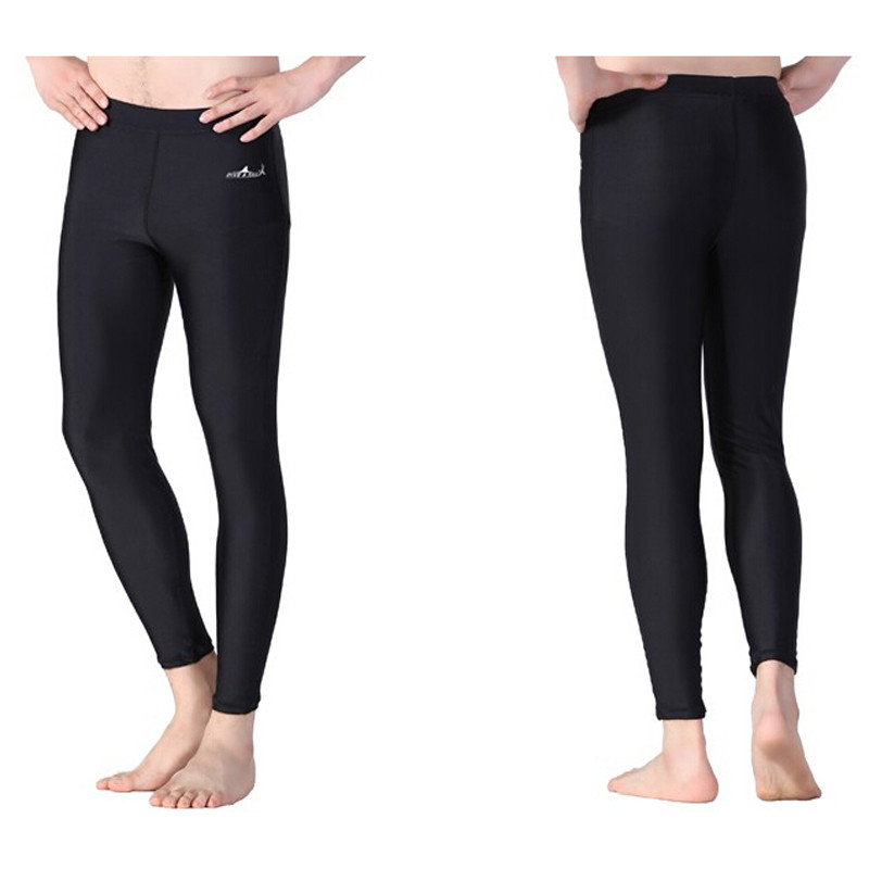 DIVE & SAIL -003 Sexy Womens And Mens Fitness Pants Long Sunscreen Warm Split Waist Was Thin Yoga Snorkeling Swimming Trunks