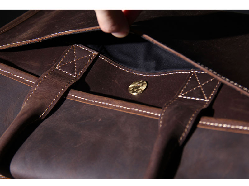 b203411d32a Man Genuine Leather Bag Luxury Briefcase Handmade Real Oiled Leather ...