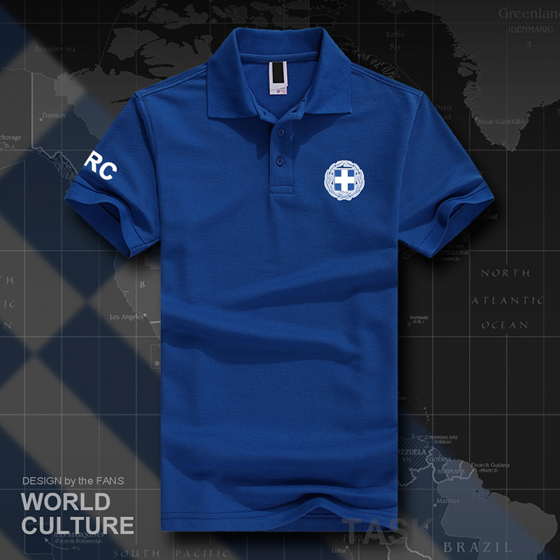 Greece Greek GRC GR   polo   shirts men short sleeve white brands printed for country 2018 cotton nation team flag fashion casua 20