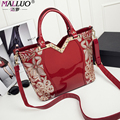 2017 MALLUO Women bags messenger bag luxury handbags designer famous brand high quality patent leather Feminina Large-capacity
