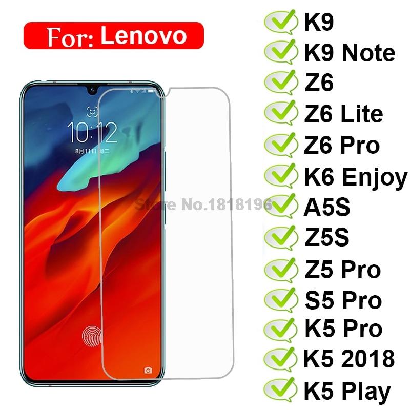 Tempered Glass For Lenovo Z6 Lite Z5 Pro S5 K9 Note K6 Enjoy A5S Z5S K5 2018 Safety Glass Phone Film On K 9 S 5 Screen Protector