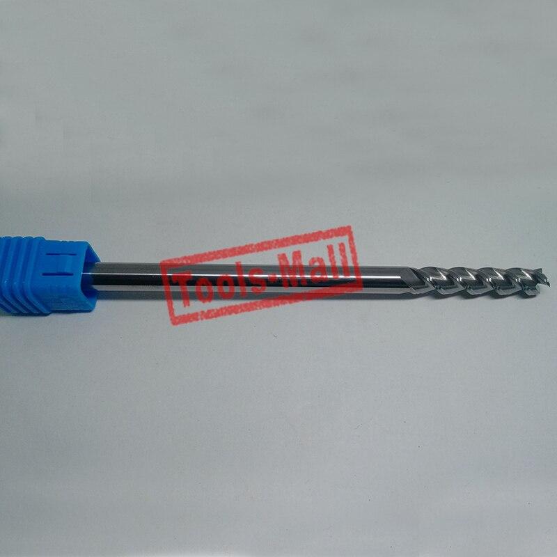 1 pc 20mm D20 * 45 * D20 * 100-HRC50 3 fraises à cannelures pour outils de CNC en aluminium fraises à bout plat en carbure monobloc fraises à CNC