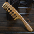 High-quality fine-toothed comb small fashion models genuine natural green sandalwood comb massage comb baby comb