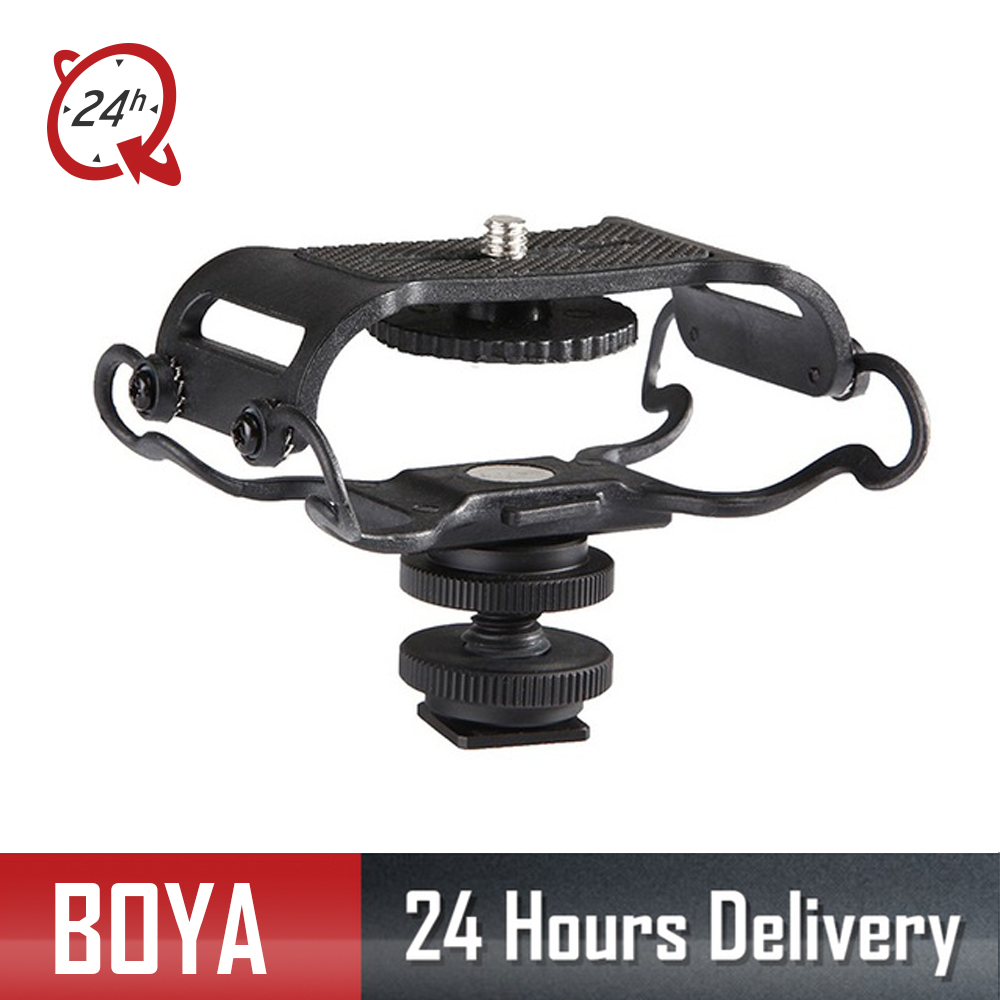 US $19 25 25% OFF|New BOYA BY C10 Microphone Shock mount Digital Recorder  Microfone Shockmount for Zoom H1/H4n/H5/H6 Sony PCM M10 Tascam DR 40-in