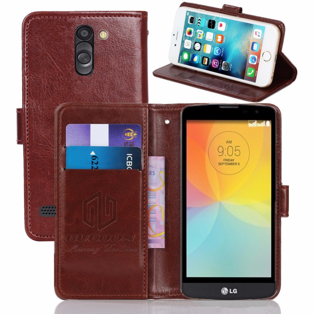 Vintage Wallet Case For LG D331 D335 L Bello 5.0Inch PU Leather Retro Flip Cover Magnetic Fashion Cases Kickstand Strap