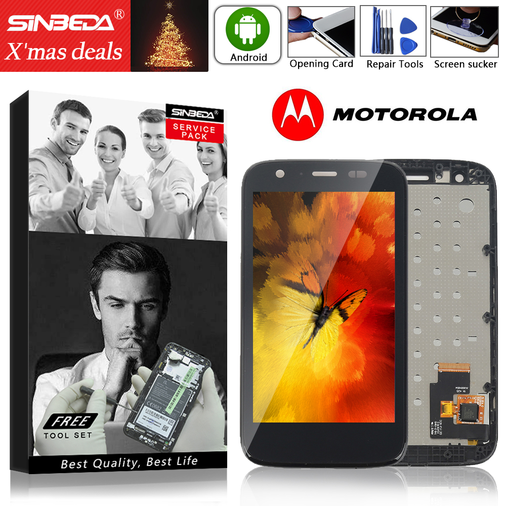 4.5 Sinbeda For Motorola Moto G LCD Display Touch Screen with Frame Digitizer For MOTO G Display For Moto G1 LCD XT1032 XT10334.5 Sinbeda For Motorola Moto G LCD Display Touch Screen with Frame Digitizer For MOTO G Display For Moto G1 LCD XT1032 XT1033