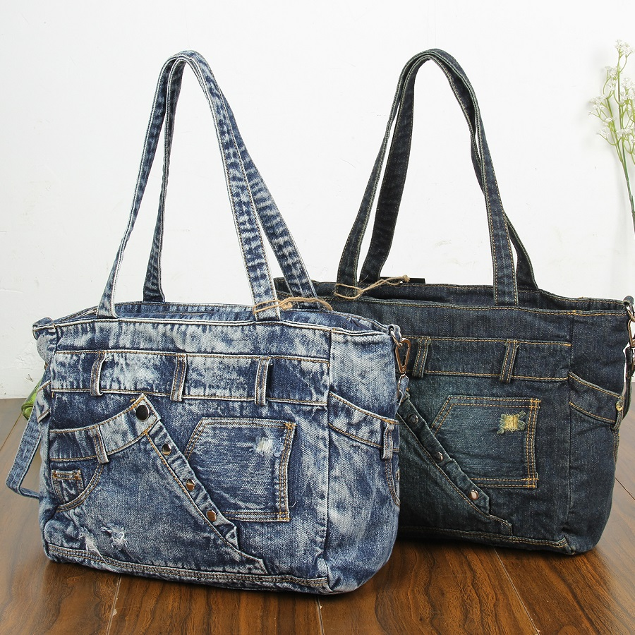 New Fashion Vintage Girls Jeans Denim Women Bags Lady's HandBags Crossbody Message purse Shoulder Bag carteira bolsa feminina fashion vintage applique belt girls jeans denim women bags lady s handbags crossbody purse shoulder bag carteira bolsa feminina