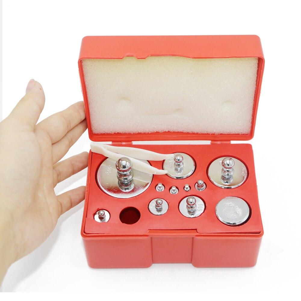 12 pièces 1010g gramme 1.1 kg Balance calibrage échelle poids ensemble Test mesure 1g 2g 5g 10g 20g 50g 100g 200g 500g g vente en gros