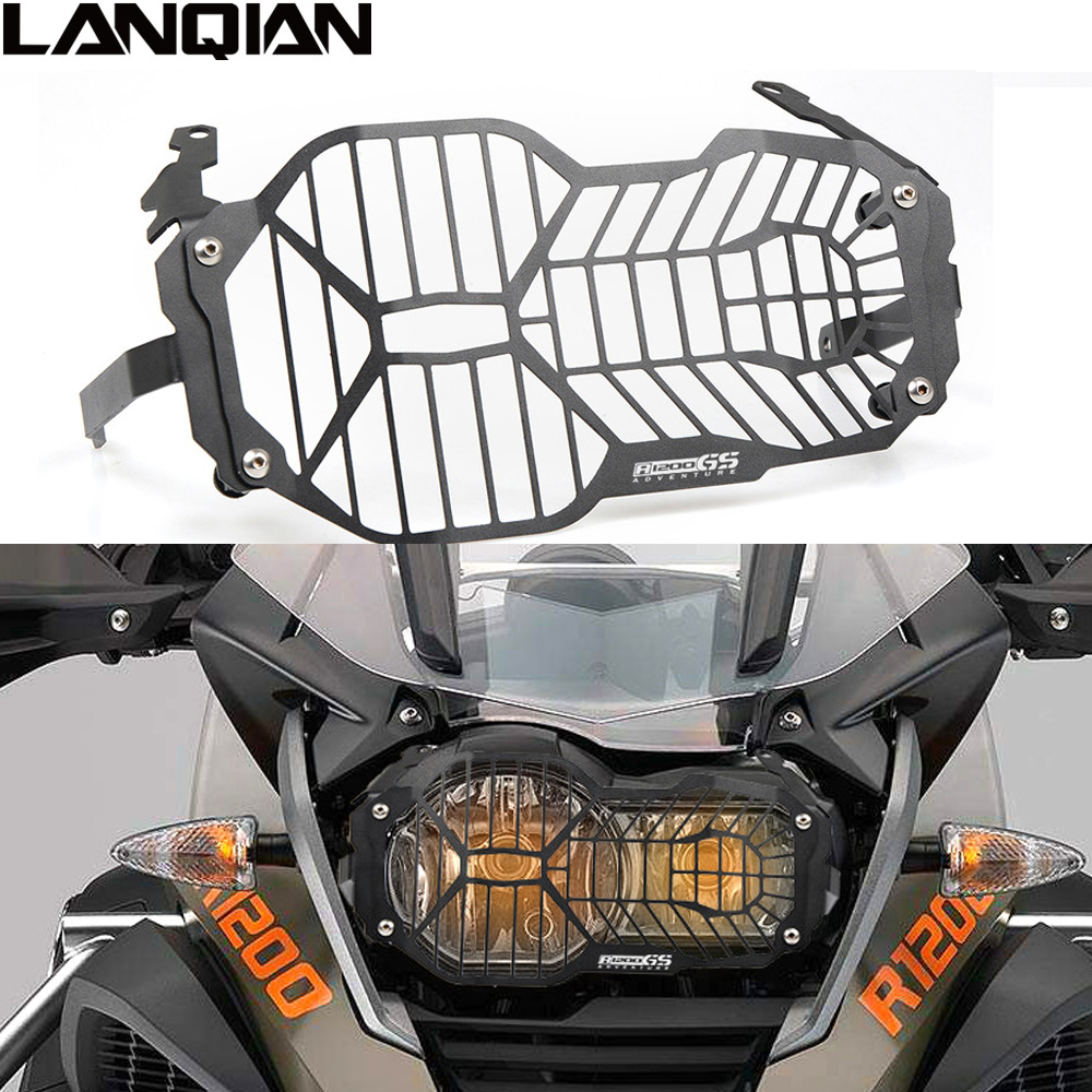 CNC Motorcycle Headlight Protector Grill Guard Cover For BMW R1200GS R 1200 GS LC / Adventure R1200 GS 2012-2018 2013 2014 2015