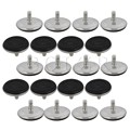 BQLZR 20pcs 50mm Adjustable Furniture Feet Base Leveler Pad Table Leg M8 x 13mm