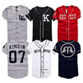 2016 New Last King LK KNYEW 07 MISBHV Striped Baseball Jersey T Shirts Men Women Mesh V-Neck Jersey Hip Hop Street T-Shirts Tee