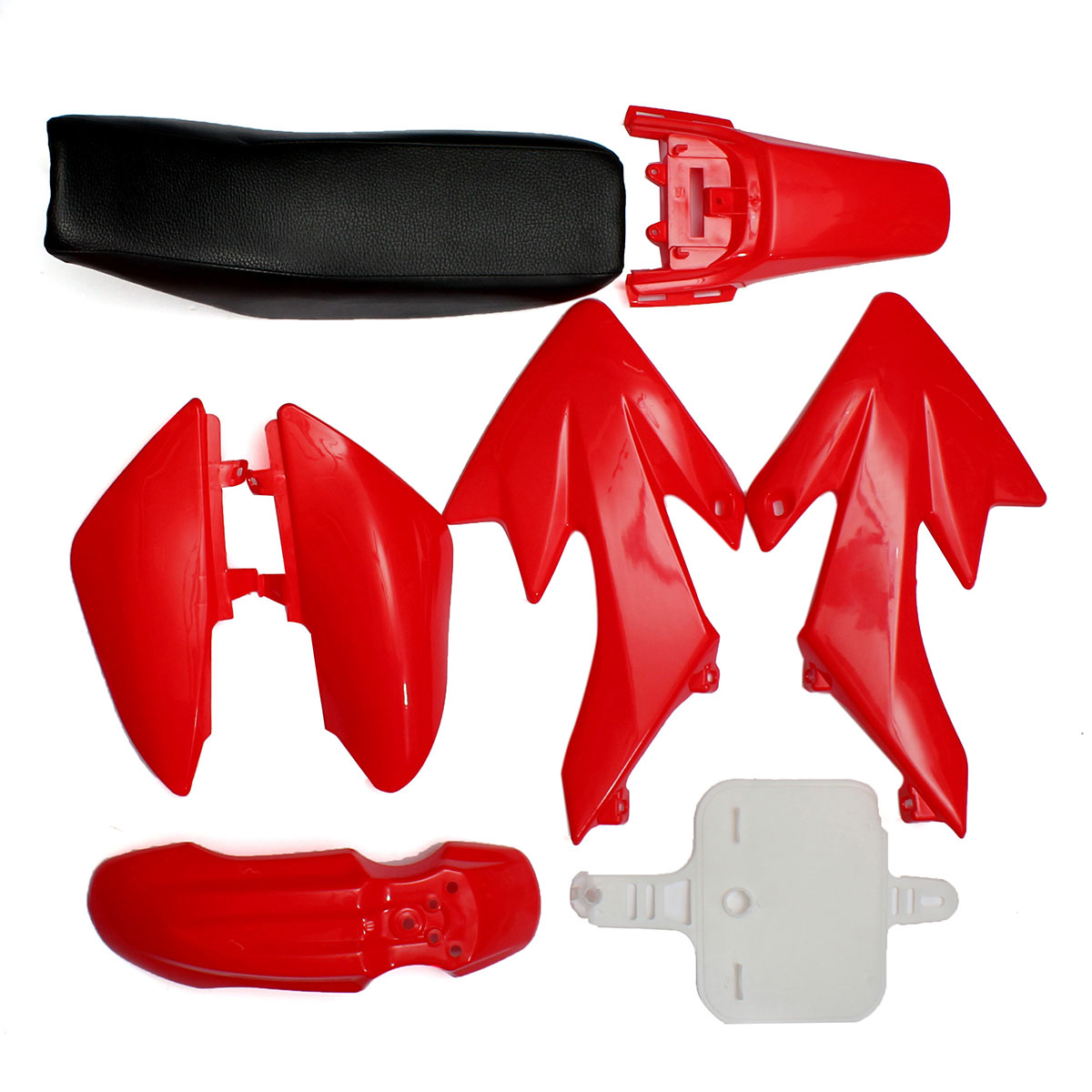 8Pcs 4 Color 50cc 110cc 125cc 140cc Plastic 4-Stroke CRF50 Pit Bike Set Mudguard Seat(China)
