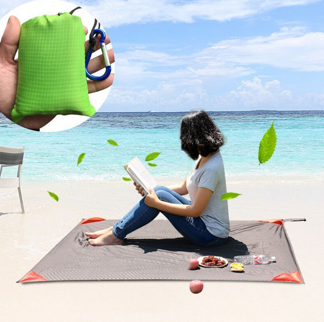 Portable Ultra Thin Folding Pocket Blanket Camping Waterproof Mattress Outdoor Travel Fishing Beach Mat Yoga