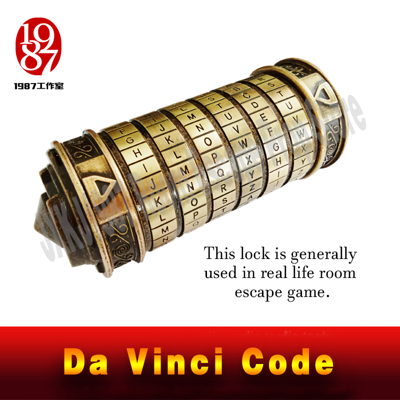 Real Life Room Escape Prop Da Vinci Code Lock DaVinci Letter Password Lock Gift Ideas Christmas Gift To Marry Lover
