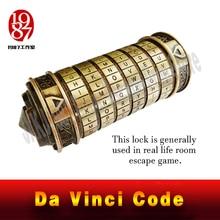 ชีวิตจริง Room Escape PROP Da Vinci รหัสล็อค DaVinci Letter รหัสผ่านล็อคไอเดียของขวัญของขวัญคริสต์มาสแต่งงานคนรัก