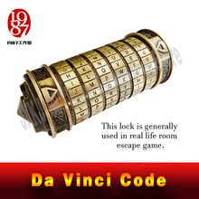 Vita reale Room escape prop codice Da Vinci serratura DaVinci Lettera Password di Blocco Regalo Idee Regalo Di Natale Per Sposare Amante