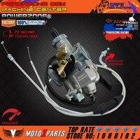 المكربن pz30 30 ملليمتر powerzone تسريع مضخة سباق 200cc 250cc لل كيهين abm irbis ttr 250 مع المزدوج خنق كابل