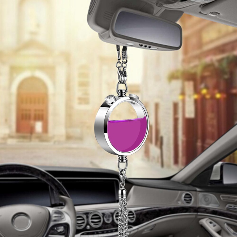 Car Air Freshener Rearview Mirror Perfume Pendant Essential Oil Fragrance Scent Smell Auto Interior Accessories