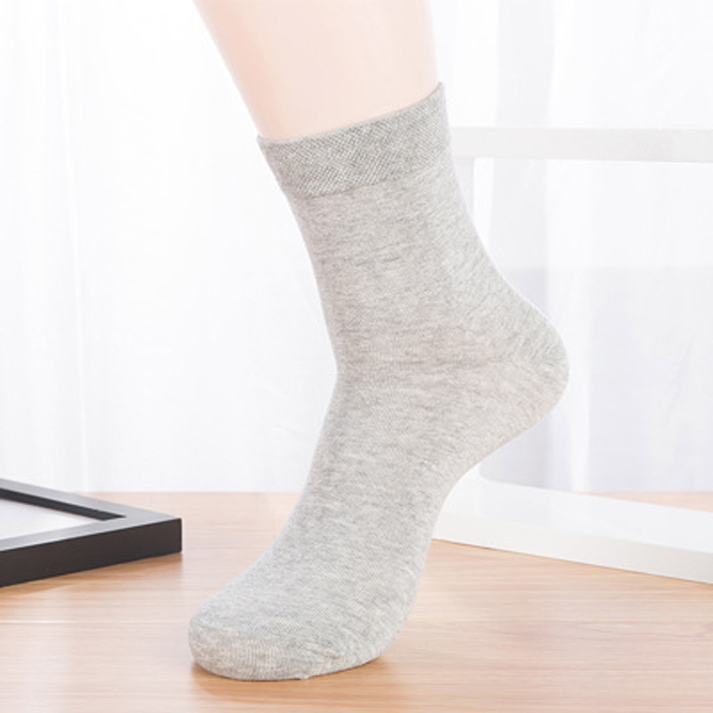 1pair 3d Men Socks Mens Dress Socks Men Spring Solid Color Mens Socks Long White Business Male Human Calcetines Hombre