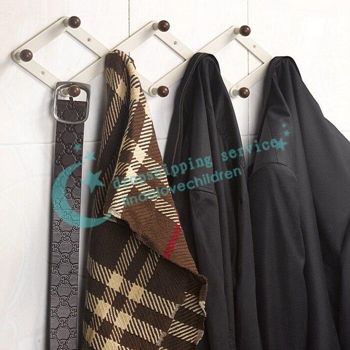 rhombus foldable retractable rack coat hanger behind door coat rack hanger hook sticky hooks 2016 new - Retractable Coat Hook
