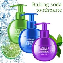 Food Grade Baking Soda Toothpaste Pressed Oral Care Blueberry Fruit Flavor Refreshing 220g Whitening Cleaning Tooth