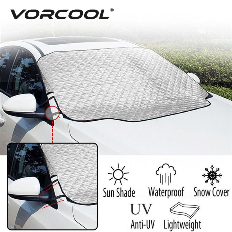 3 Size Car Windshield Sun Shade Thickened Anti Wind Sun UV Sun Rain Snow Dust Protection Front Window Protectors Cover-in Car Covers from Automobiles & Motorcycles