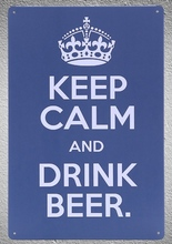 1 pc Keep calm and drink beer motivation tin Plates Signs wall plaques man cave Decoration vintage Dropshipping Poster metal