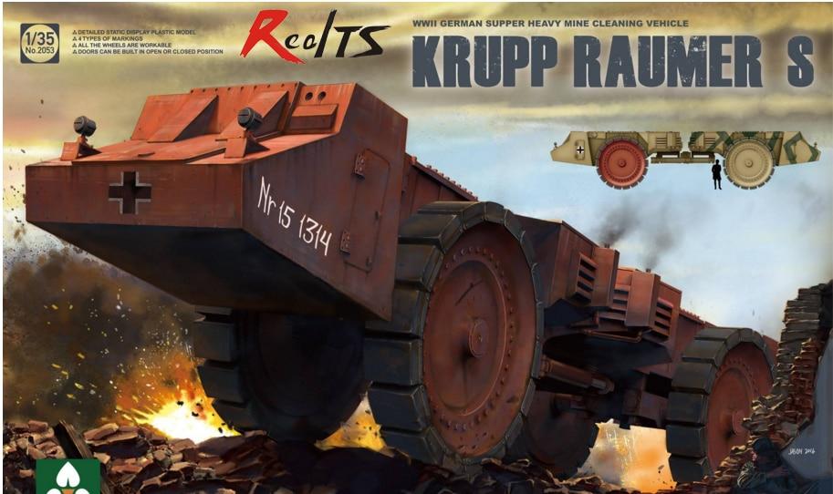 RealTS Takom 1:35 Krupp Rauner S WWII German Super Heavy Mine Clearing Vehicle #2053