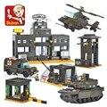 Compatible con leping b7100 la unidad modelo de tanque del ejército sluban del bloque hueco ladrillo juguetes educativos juguetes para niños diy