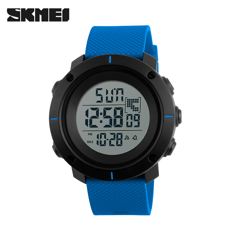 <font><b>SKMEI</b></font> Men Small Dial Sports Watches Multifunction Chronograph 50M Water Resistant Alarm Back Light Date Digital Wristwatches image