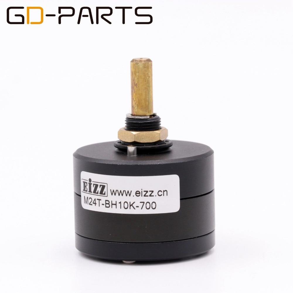 EIZZ High End LOG 10K 24 Steps MONO Attenuator Sound Control Volume Potentiometer 65dB For HIFI Audio Amplifier DIYx1PC new 24 steps dual channel serial type volume potentiometer vishay dale resistors for amplifier