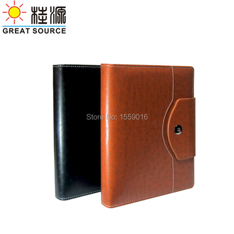 A5 Leather Notebook 2020 Conference Notepad Ring Binder With 2020 Calendar Agenda Paper Planner Organizer in Notebooks from Office School Supplies