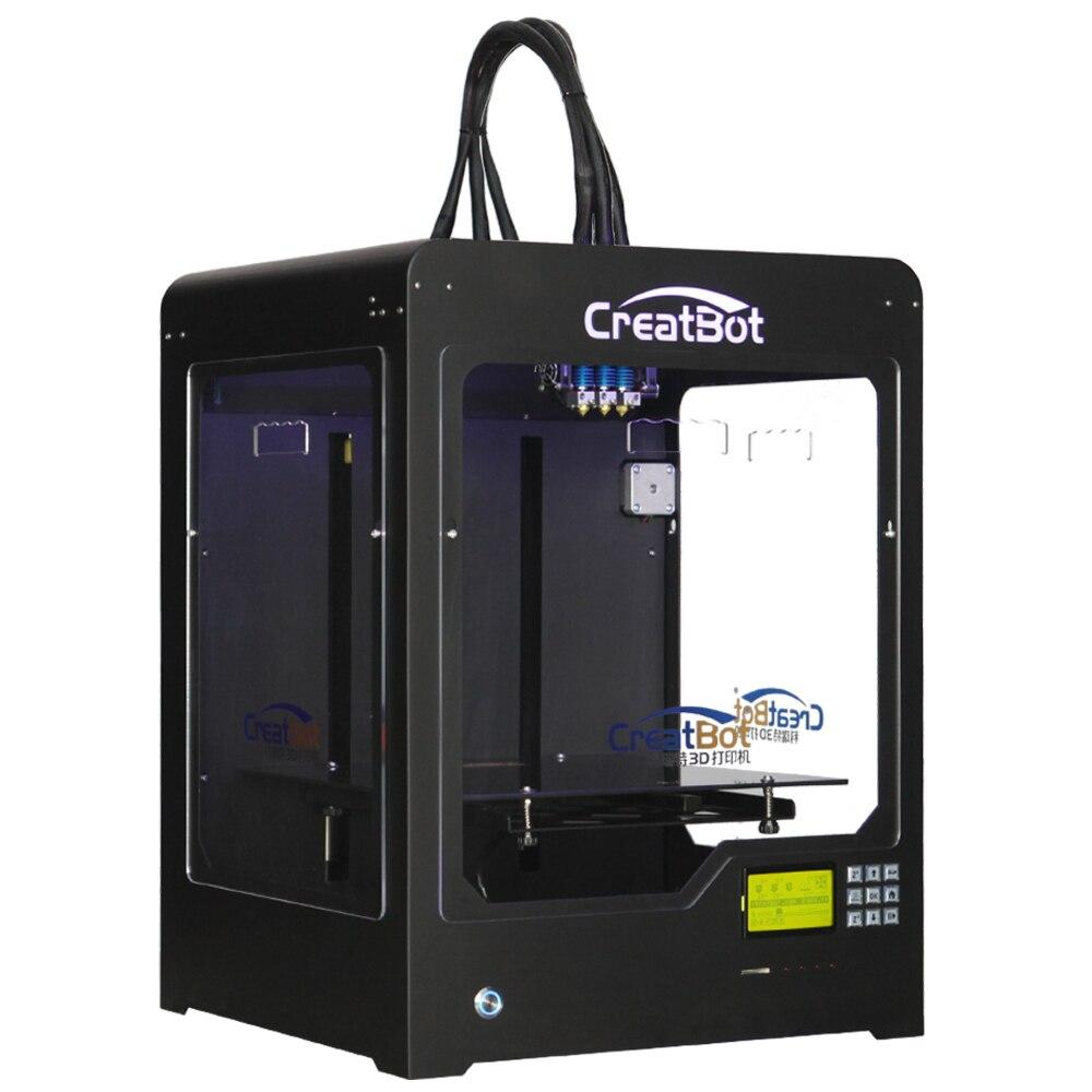 CreatBot 3d imprimante DX03 300*250*300mm Triple Extrudeuse En Métal Cadre en laiton buse Meilleur Vente DIY 2 KG abs pour livraison