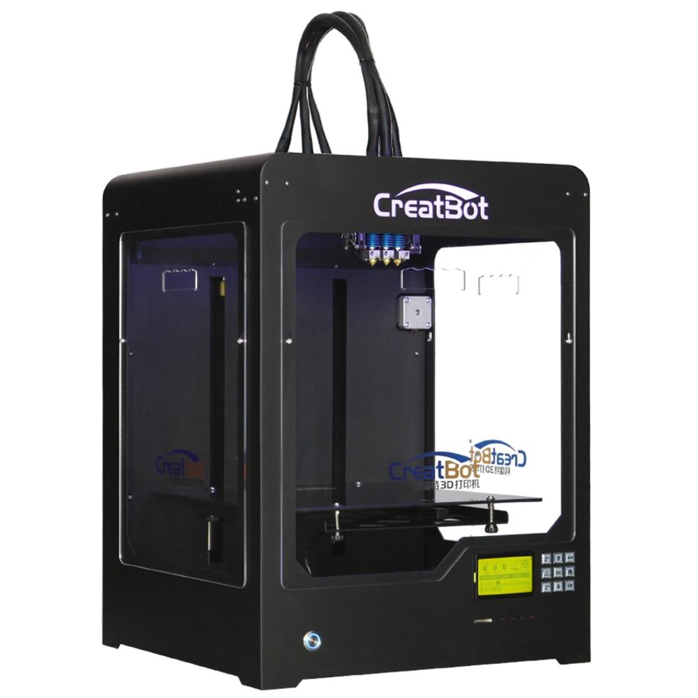 CreatBot stampante 3d DX03 300*250*300mm Triple Estrusore Con Struttura In Metallo ottone ugello Migliore Vendita FAI DA TE 2 KG abs gratis