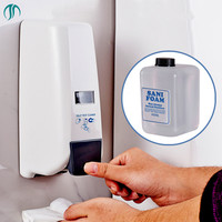 Plastic Toilet Seat Cleaner Detergent Dispensers Liquid Detergent Washing Cleaning Agent Wall Mount Disinfection Device