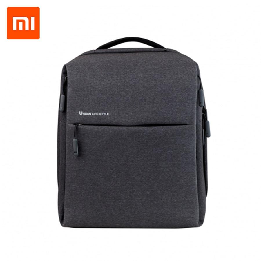Original Xiaomi Mi Minimalist Urban Life Style backpack Polyester Backpacks for School Business Travel Men's Bag Large Capacity цена и фото