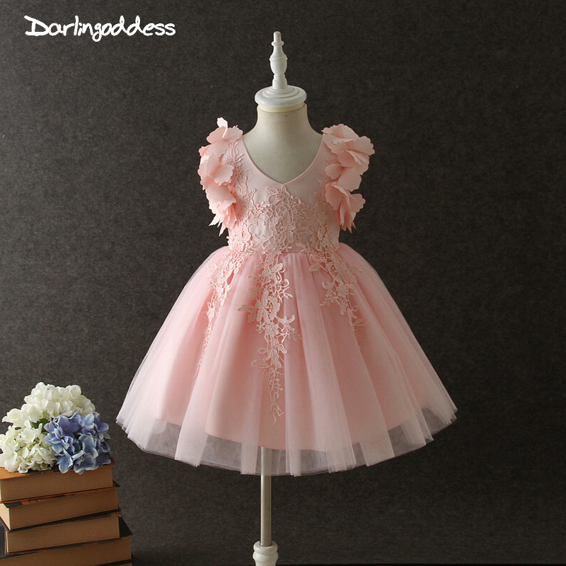 2018 Summer   Flower     Girls     Dresses   for Wedding Ceremony Party Prom   Dress   for Baby   Girls   Christening Gowns First Communion   Dress