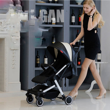 Hot Sale 2017 now baby strollers 0-3 year old high pu leather baby carriage free shipping to Russia