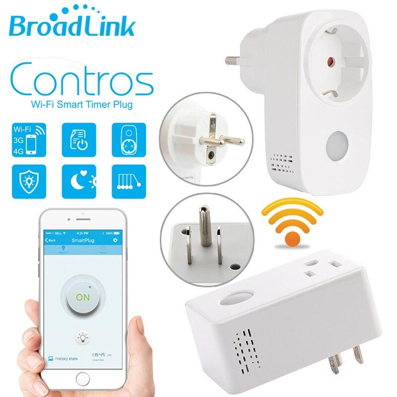 imágenes para Broadlink SP3 SP CC Contros EE. UU. UE WiFi/3G/4G Control Remoto Inteligente Del Zócalo Enchufe Temporizador función de APP Casa Automaion IOS Android