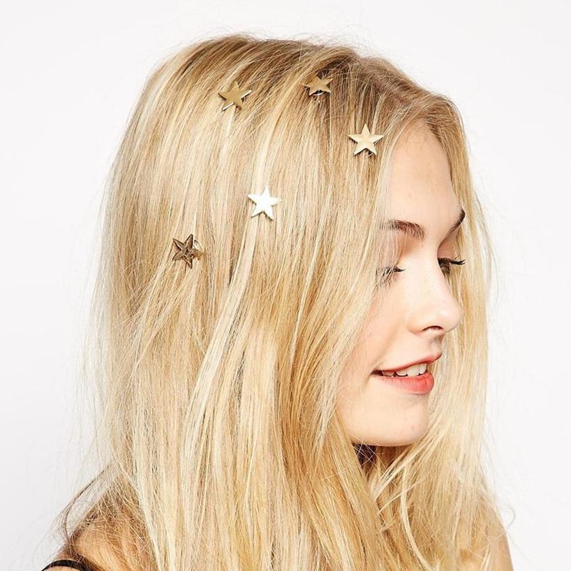M MISM New 4 Pcs/Set Star Spiral Hair Clips For Girls Golden Hairpins Women Vintage Barrette Korean Fashion Haar Accessoires