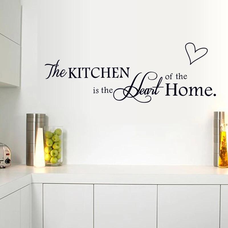 Hot Sale Waterproof Pvc Kitchen Wall Sticker Creative English Motto Stikers Mural Diy Cocina Stickers Muraux Home Decor Wt179 Home Goods Wall Decor Home Decorating Accessorieshome Design Decor Aliexpress